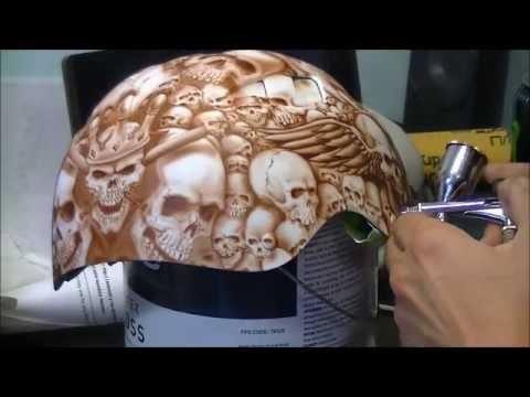 1,000 airbrused skulls - Airbrush videos on JustAirbrush - Airbrush Videos