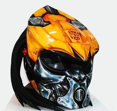 $399 for this Motorrad Helm Predator Terminator handmade airbrush exklusiv in Gr. XL - Kustom Airbrush