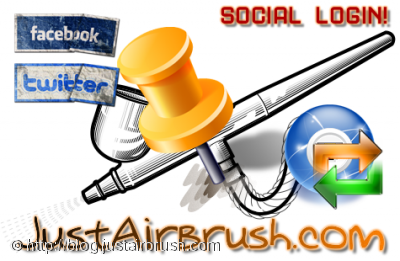 Login attraverso Facebook o Twitter