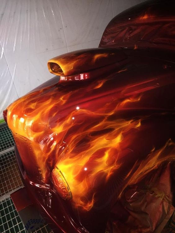 Killer Paint Airbrush real flames - Favorite Art
