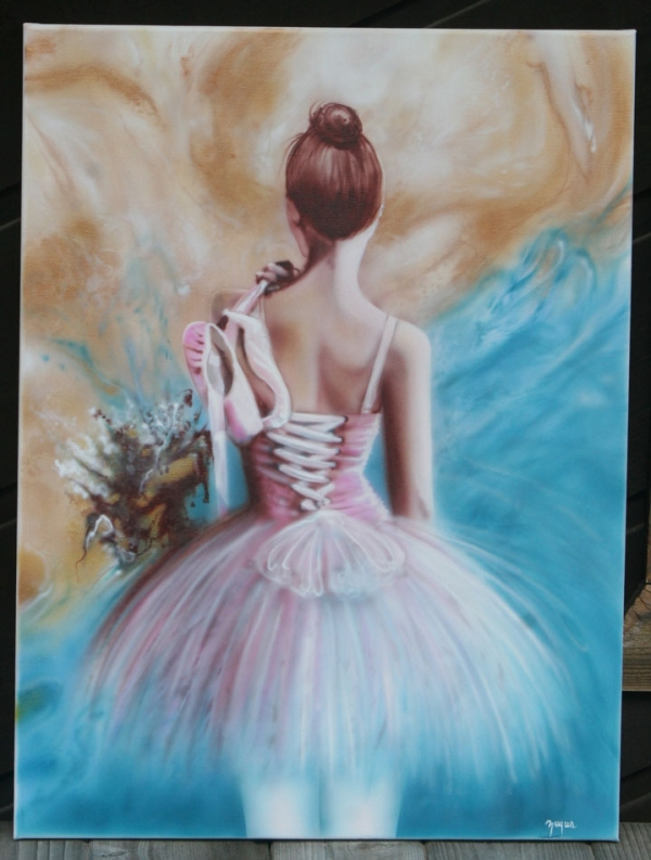 airbrush on canvas #zuyusartistry.com
