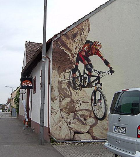 Arbeitsbeispiel-Wandbild Airbrush