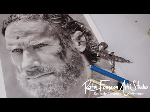 Painting the walking dead / Airbrush The walking dead - Rick grimes - Airbrush Videos