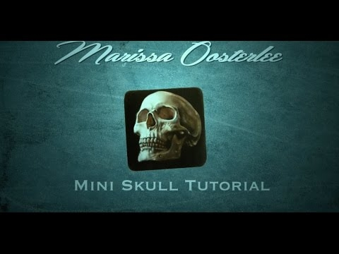 Airbrushing a Mini Skull | Fine Full Tutorial by Marissa Oosterlee - Airbrush Videos