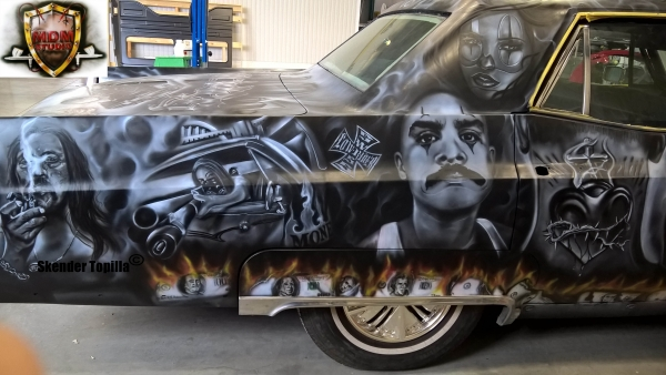 Chicano Art on Cadillac