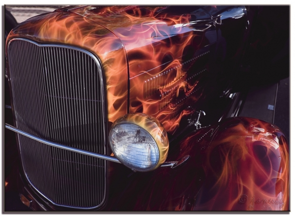 Real Flames on HotRod