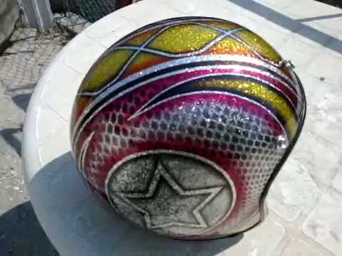 Biltwell #Metalflake #Airbrush #Helmet - YouTube - Airbrush Videos