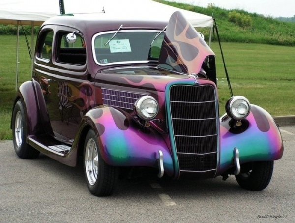 1937 FORD - COOL 'FLAMES' PAINT JOB!