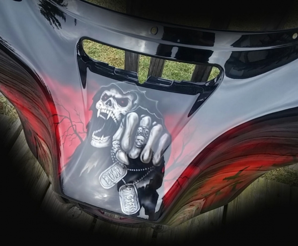 Candy Red Reaper Fairing airbrushfrankhazen.com - Custom Paint Motorcycles