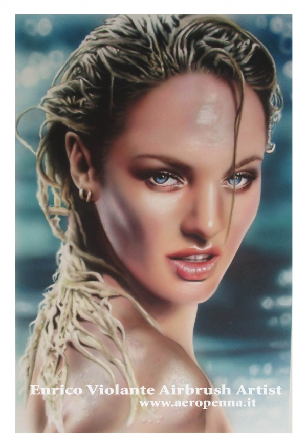 summer airbrush portrait