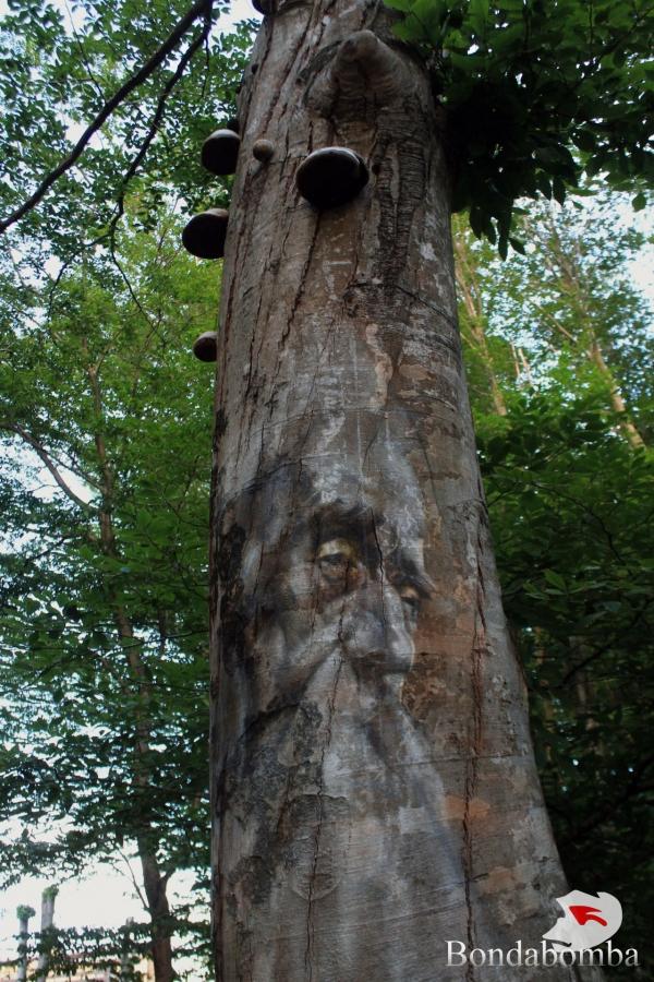 Woodland monument