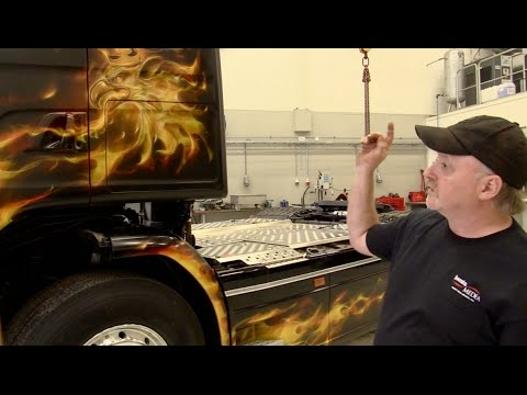 Mike Lavallee Airbrushed Semi Truck - True Fire - Airbrush Artwoks