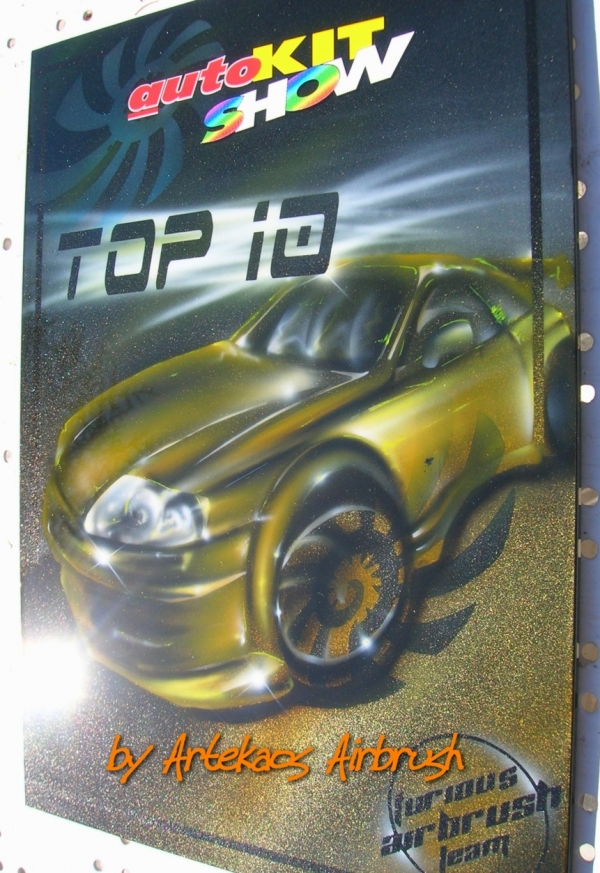 AutoKit Show - Winner Prize 20 x 35 plastic plate - ArteKaos Airbrush
