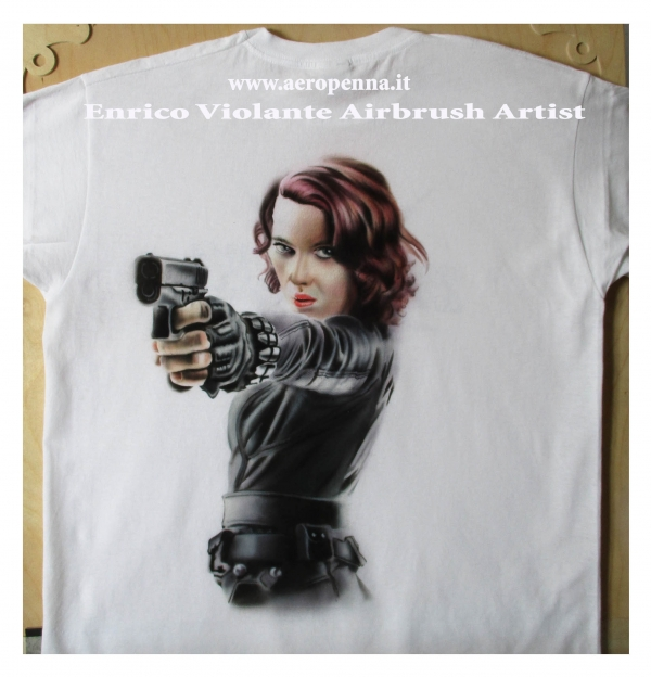 airbrush on t-shirt