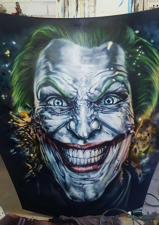 Joker by @TankGirlAirbrushArt - Kustom Airbrush