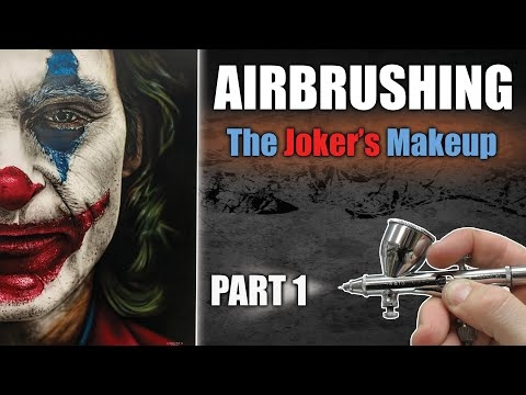 Learn how to Airbrush / Paint the Joker : Part 1 - See more on YouTube
