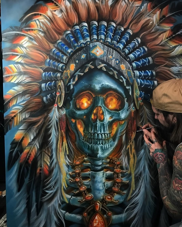 Skull Chief - Airbrush Artwoks