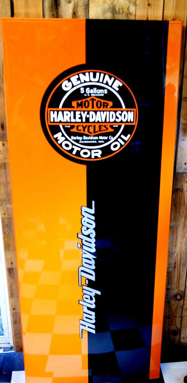 peinture harley Davidson sur frigo
