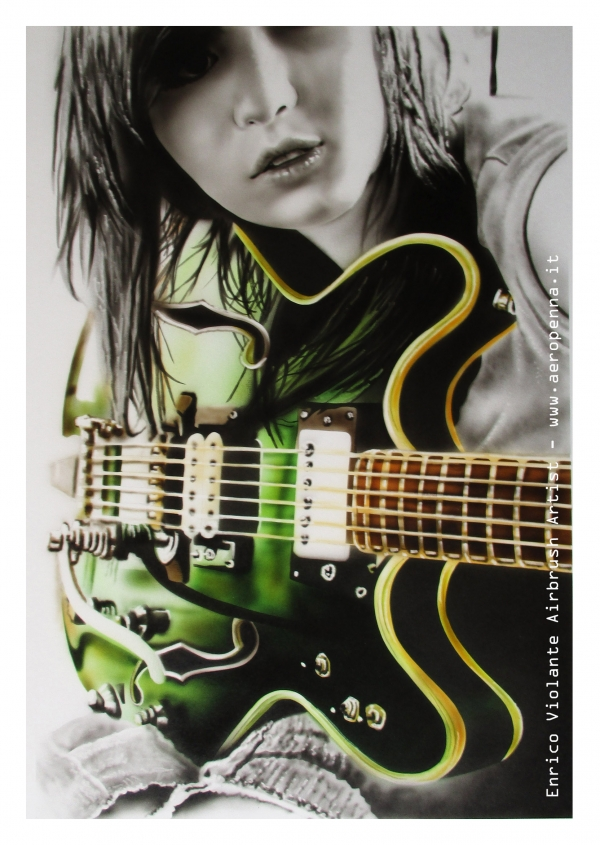 airbrush ink on paper