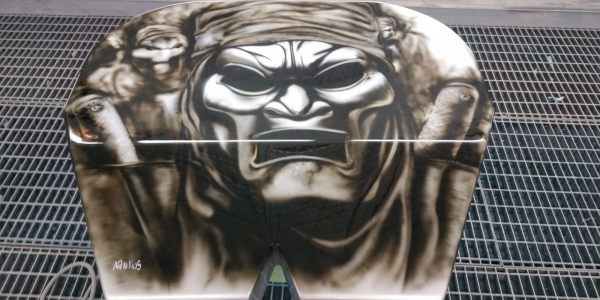 Detail: The #Spartan - by ArteKaos Airbrush