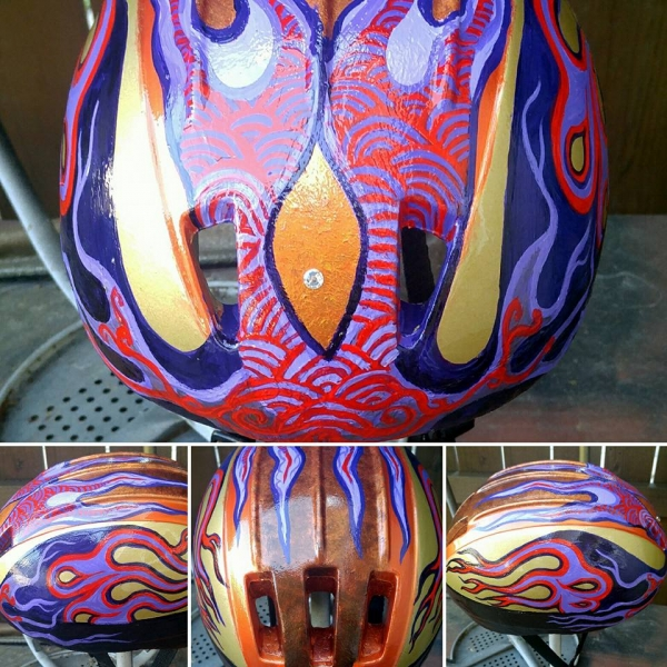 This was another helmet I designed and hand-painted  - Hand painted cycling helmets