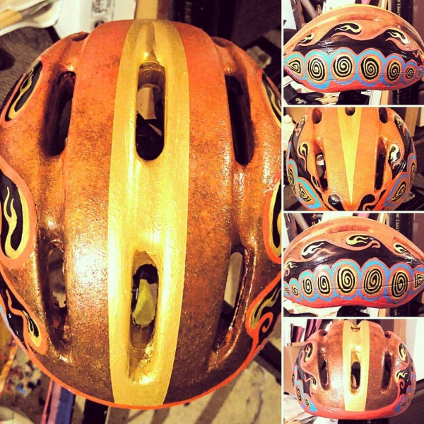This helmet I airbrushed and hand painted