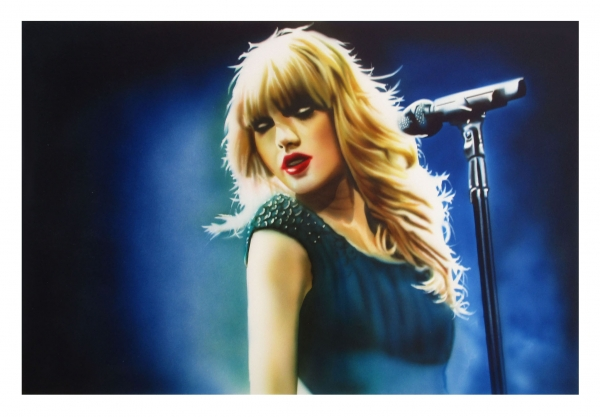 Taylor Swift, aerografia 30x45 cm,  - Airbrush Artwoks