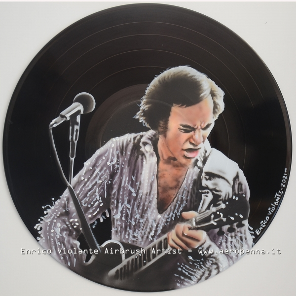 Neil diamond - airbrush on vinyl record