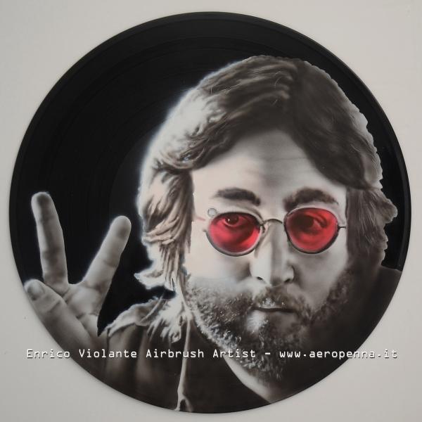 airbrush on vinyl record