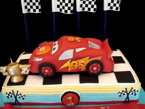 ▶ Cars Themed Fondant Cake- my third version - Yummy! - Airbrush on Foods