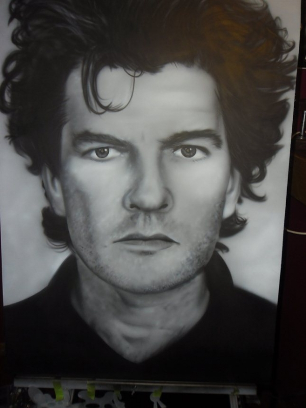 airbrush - Tim Finn by Julia Tapp