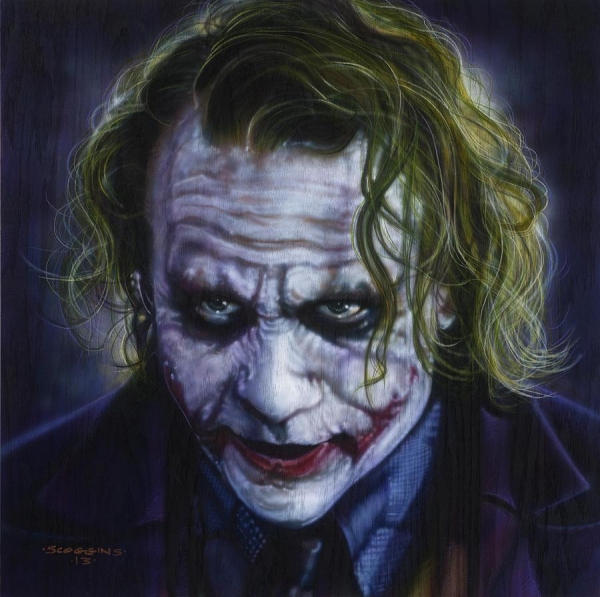 The Joker Painting by Tim Scoggins