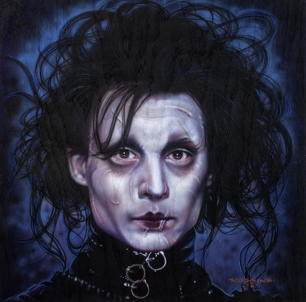 Edward Scissorhands Painting by Tim Scoggins - Creative Posters