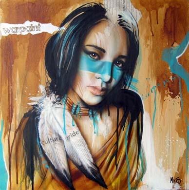 """""""Warpaint"""" - Original painting by Tim Miklos 2013"""