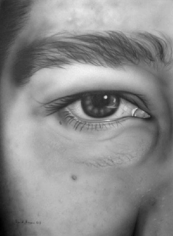 self-Portrait on Screen 100 x 70 freehand