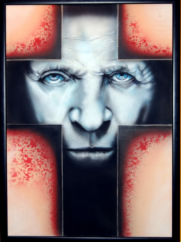 The rite   Airbrush acrilyc on canvas