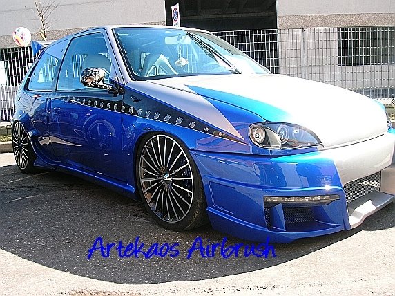 Kustom Airbrush on Saxo Tuning Car by ArteKaos