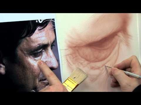 ▶ Airbrushing Realistic Eye Details w/ Steve Driscoll - Creative Learning