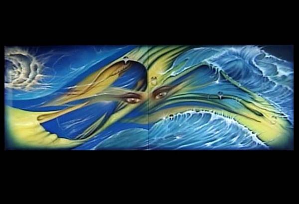 cuadro diptico por nixa arte y aerografia, www.facebook.com/pages/nixa-arte-y-aerografia/222640651124798?ref=hl