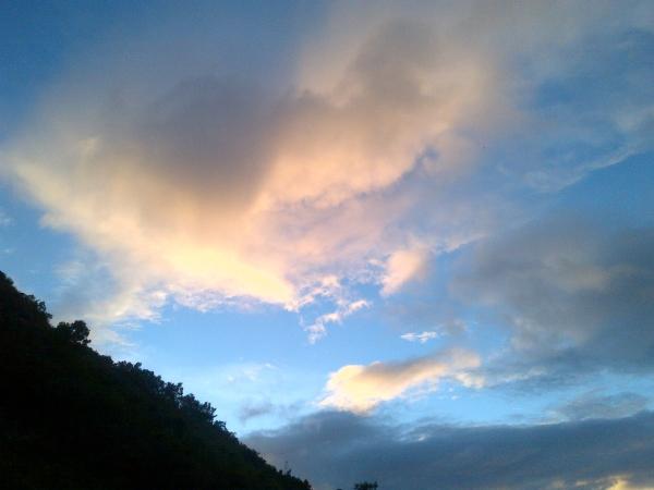 vista del cielo de mi bello país Venezuela, Oriente Puerto la  Cruz,