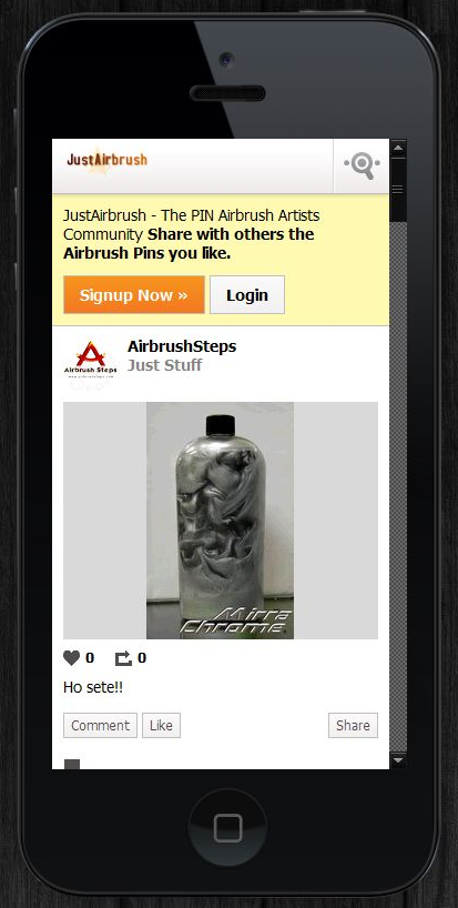 #JustAirbrush #MOBILE! Try and Enjoy JustAirbrush.com everywhere! ;D
