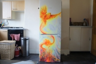 Phoenix on the refrigerator by LukeSobczakAirbrush - Airbrush Artwoks