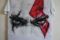 Kratos - Font side of T-shirt by LukeSobczakAirbrush - Airbrush Artwoks