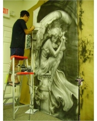 Working on a mural project for a client. - Favorite Art