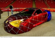 Strange Spiderman Custom Car Spidey Car Incredible Paint Job - Kustom Airbrush