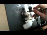 ▶ Johnny Cash Airbrush Portrait - Airbrush Videos