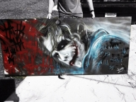 Airbrushed joker by adamdallas.com  - Airbrush Murales
