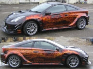 Fire Tuning car - Airbrush Artwoks