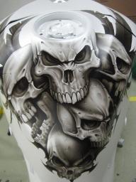 skull gixxer tank by Jonny5nLala - Airbrush Artwoks