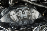 "1984 CADILLAC FLEETWOOD LOWRIDER ""UNDERTAKER"" - Top Airbrush Artwork on the Web"